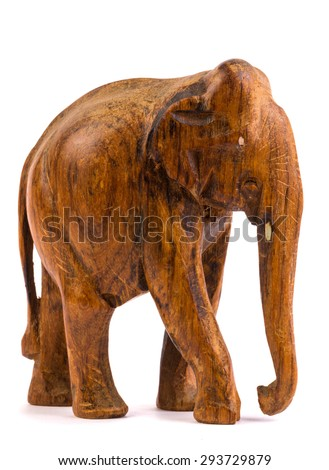 Wooden elephant figurine from Thailand