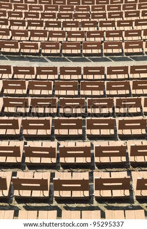 Wooden empty chairs - stock photo