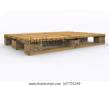 Wooden euro pallet  - stock photo