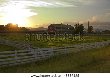 Wooden Fence by the Countryside Ranch