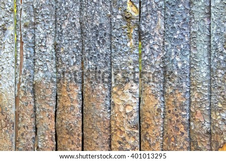 Wooden fence from untreated boards