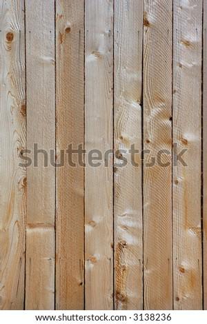 wooden fence in garden - stock photo