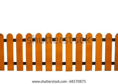 wooden fence isolate - stock photo