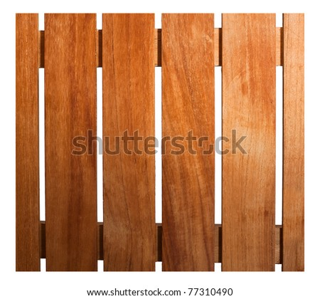 Wooden fence isolate on white background - stock photo