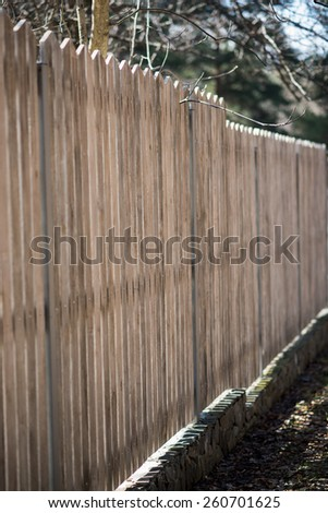 Wooden fence- shallow depth of focus
