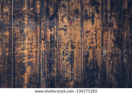 Wooden Fence Texture (vintage style) - stock photo