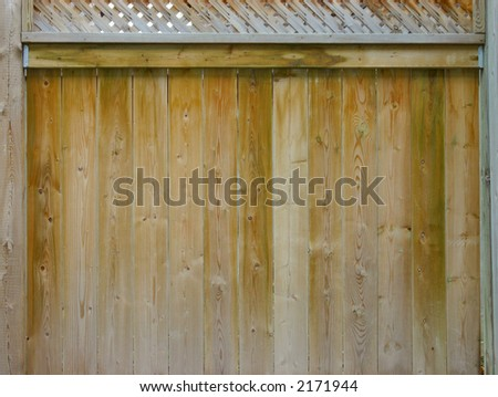 wooden fence with lattice top