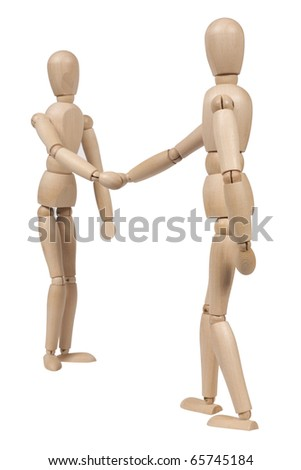Wooden figure,isolated on white