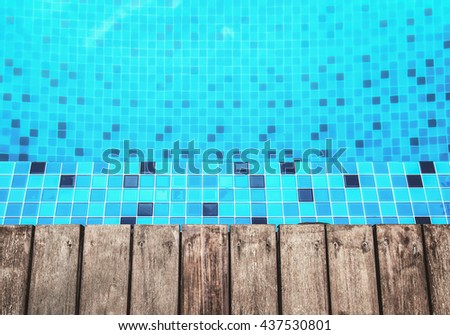 wooden floor and pool side background