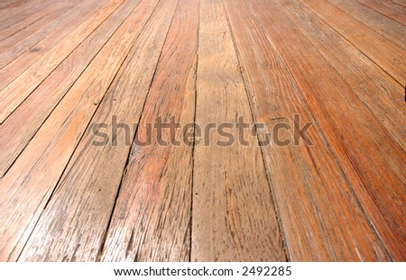 wooden floor closeup, perspective view