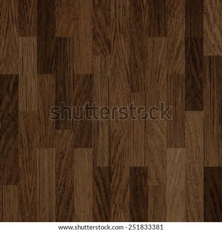 wooden floor dark brown parquet background - stock photo