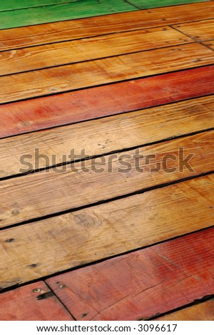 wooden flooring, detailed and retro looking floor - stock photo