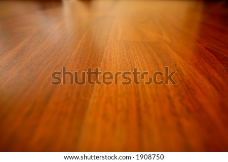 Wooden flooring in a room - stock photo
