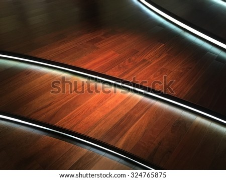 Wooden floors and light - stock photo
