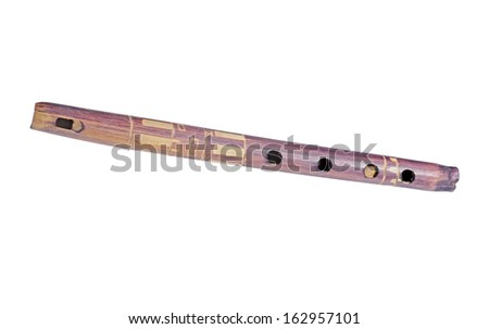 Wooden flute isolated. Quena. Kena. Argentina, South America