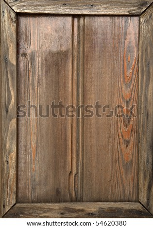 Wooden frame background - stock photo