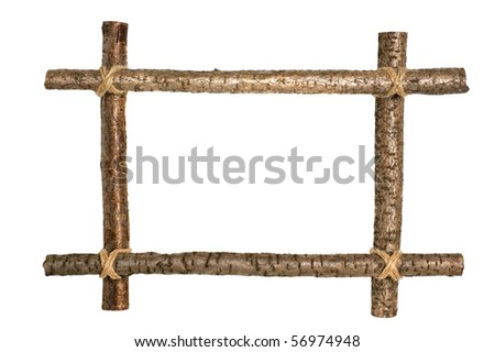 wooden frame for a picture isolated on white