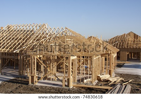 wooden frame for building construction
