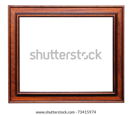 Wooden frame for painting. Specially selected timber damaged by bark beetle - stock photo