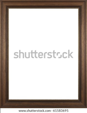 Wooden frame for paintings or photographs. - stock photo