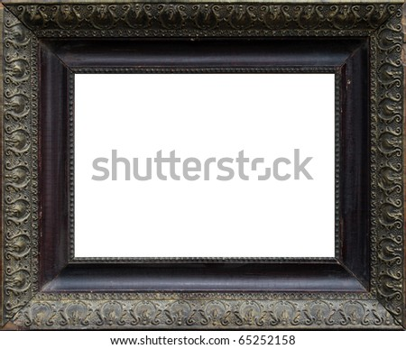 Wooden frame for paintings or photographs - stock photo
