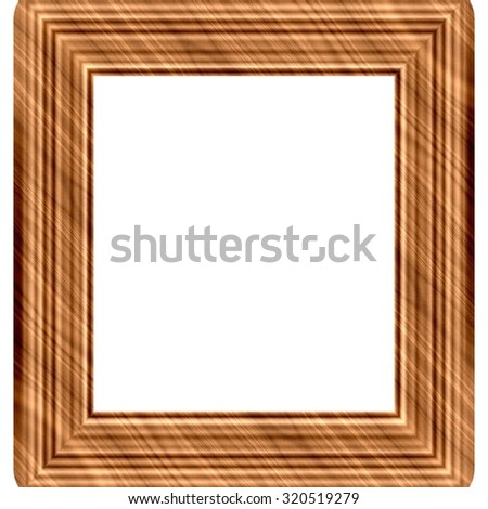 Wooden frame generated isolated background