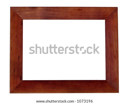 Wooden Frame, isolated - stock photo