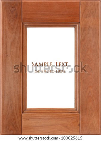 Wooden frame isolated on a white background.