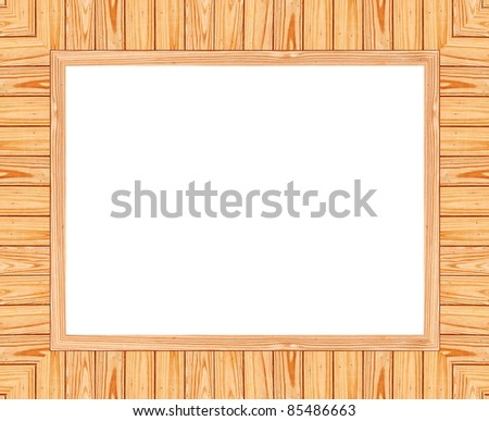 Wooden frame on white background, clipping path included - stock photo