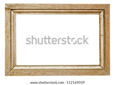 wooden frame on white background with clipping path - stock photo