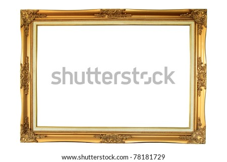 Wooden frame over white background - stock photo