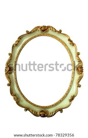 Wooden frame over white background - stock photo