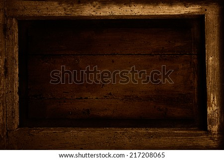 Wooden frame with copyspace. Wooden design background - stock photo