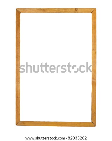 wooden frames isolated on white - stock photo