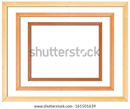 wooden frames isolated on white background