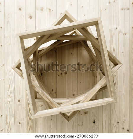 wooden frames on floor - stock photo
