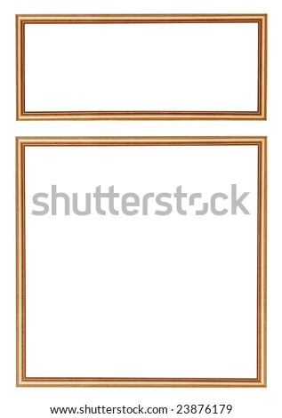 Wooden frames on white background. - stock photo