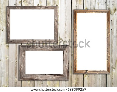 wooden frames on wooden texture - Wooden Picture Frames
