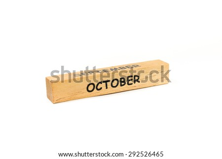wooden game block on white background