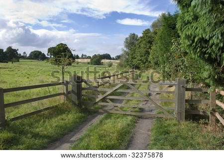 Wooden Gate Levington Suffolk England Stock Photo (Download Now ...