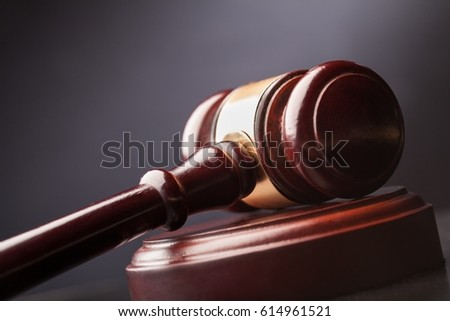 Wooden gavel.