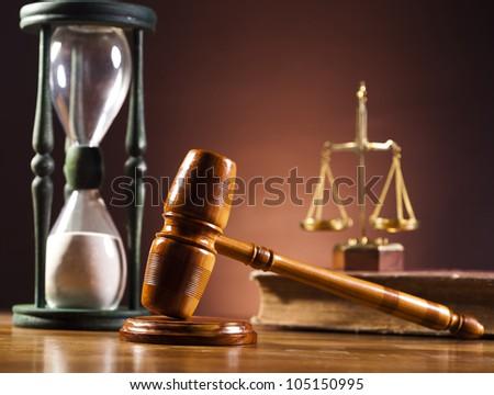 Wooden gavel barrister - stock photo
