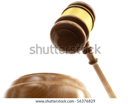 Wooden gavel, barrister - stock photo