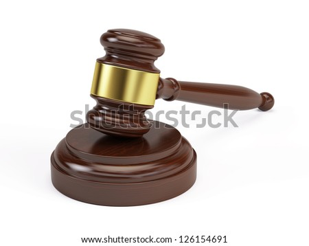 Wooden gavel from the court - stock photo