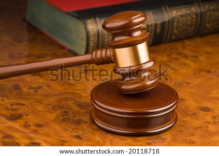 Wooden gavel - symbol for jurisdiction - stock photo