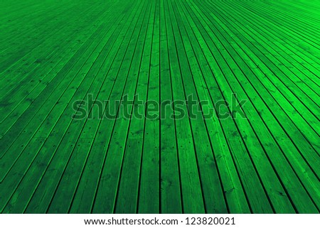 Wooden green planks - High quality texture.