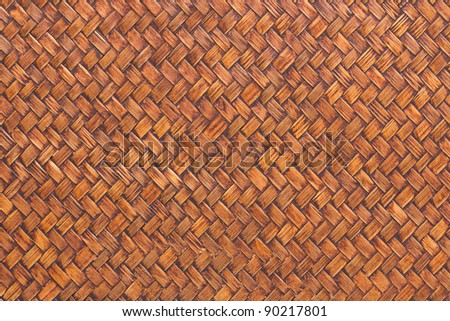 wooden handmade natural asian background - stock photo