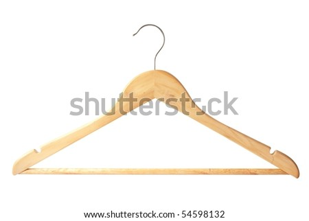 wooden hanger isolated