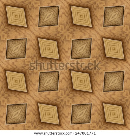 Wooden Hardwood Tiled Floor Seamless Pattern - stock photo