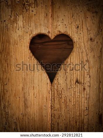 wooden heart.  - stock photo